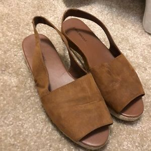Backed sandals